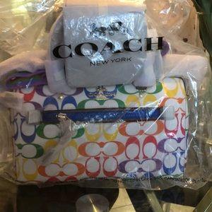 Coach Pride Rowan Satchel Crossbody 🌈 NWT 2488